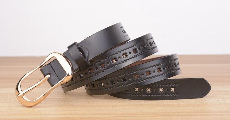 Для женщин фирменного дизайна Ремни Оригинальные кожаные женские ремни модные Повседневное на полой подошве, с пряжкой из женский ремень из натуральной кожи