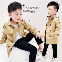 The New Spring 2018 Boys Jackets Trench Coat  Lapels Long Single Foreign Trade Agent  Fashion  kids coat   baby boy coat ALI 326 the new 2017 children trench coats girls double breasted trench coat of spring long coat lapels kids