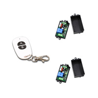 Good Quality AC220V 110V 1CH RF Wireless Remote Control Switch System Transmitter 2pcs Receivers Self Lock