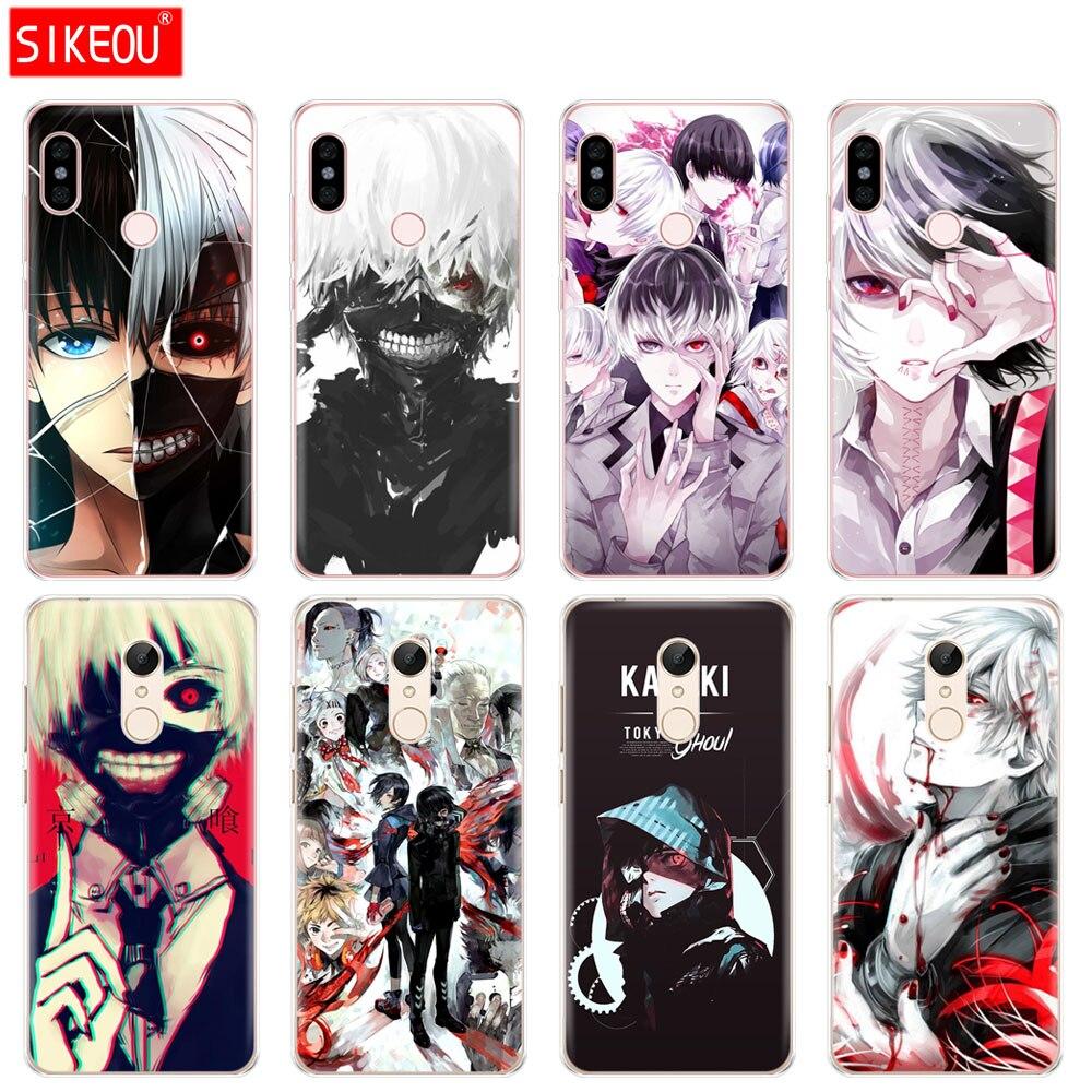 Silicone  Cover phone  Case for Xiaomi redmi 5 4 1 1s 2 3 3s pro PLUS redmi note 4 4X 4A 5A Tokyo Ghoul anime kaneki ken
