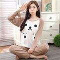 2016 pijamas de mulher Pijamas Completo Manga Loungwear Topos Onesie dos desenhos animados Pijamas Set Womens Noite Terno Pijamas pijamas Para As Mulheres
