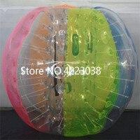 Бесплатная доставка бампер мяч 1,7 м 100% ПВХ Материал пузырь футбольный мяч Blow Up игрушка, надувные бампер шары