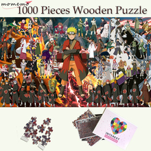 MOMEMO The Whole Naruto People Jigsaw Puzzles 1000 Pieces Wooden Puzzle Adults Toys Customized