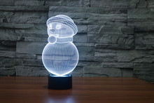 The new 7-color 3D USB creative Nightlight / LED lamp Cartoon Baby 118/ Free Shipping