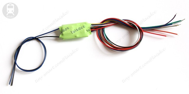 DCC LOCO DECODER FOR HO & N SCALE MODEL TRAIN with Blue and black stay alive wire with 4 Function with 9 Wire/LaisDcc Brand