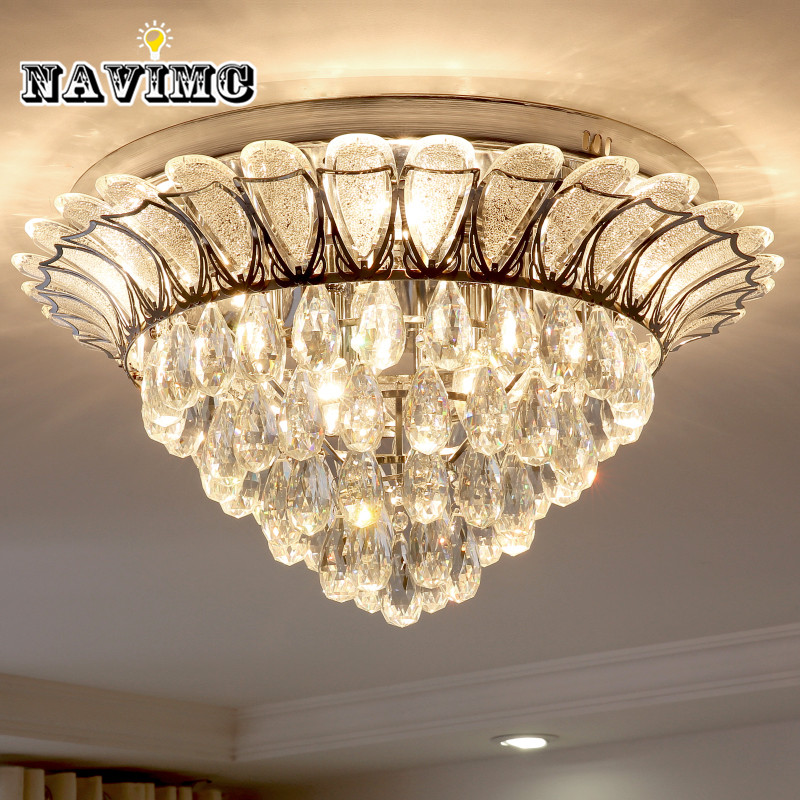 Modern Lotus k9 Crystal Chandelier Lighting for Dining Room Kitchen Living Room Bedroom Ceiling led Luxury Pendant Lamp 110-240v