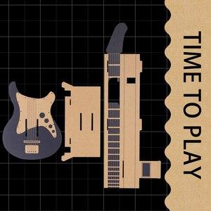 Image 2 - ThundeaL Gardboard DIY guitarra para Nintendo Switch Labo Joy con, variedad de guitarras, Kit de música para jugar en el garaje con juguetes