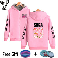 BTS Kpop Harajuku Hoodies Women Thickening Bangtan K pop Coats Poular Hip Hop Casual Sweatshirt Women Zipper Female Fans Clothes