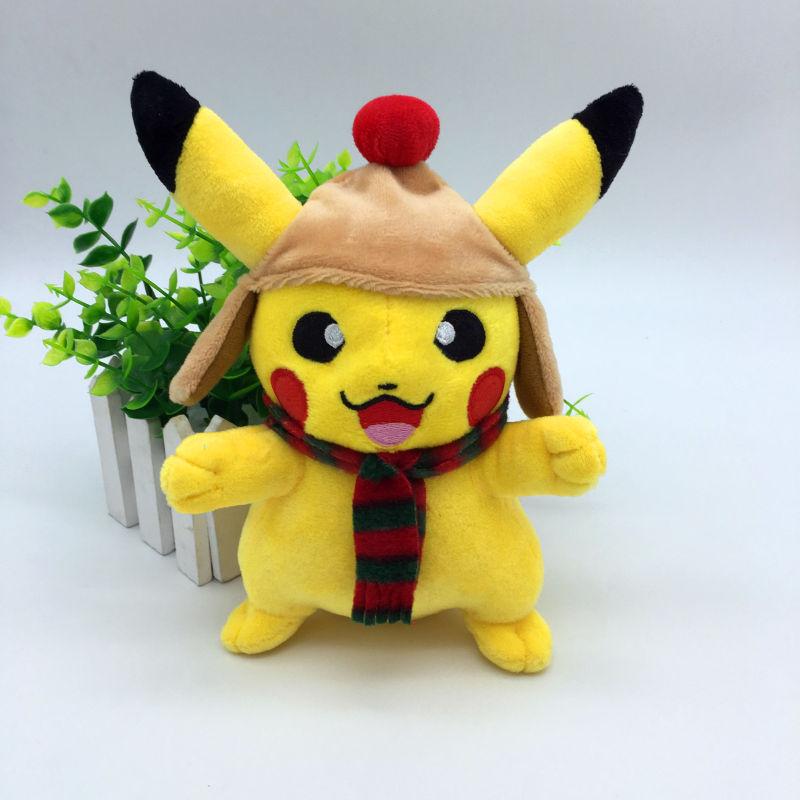 20cm Söt Cosplay Pikachu Plysch Leksaker för barn Heta julklappleksaker Pikachu Fyllda Djur Tecknadskaraktär Baby / Barn leksak