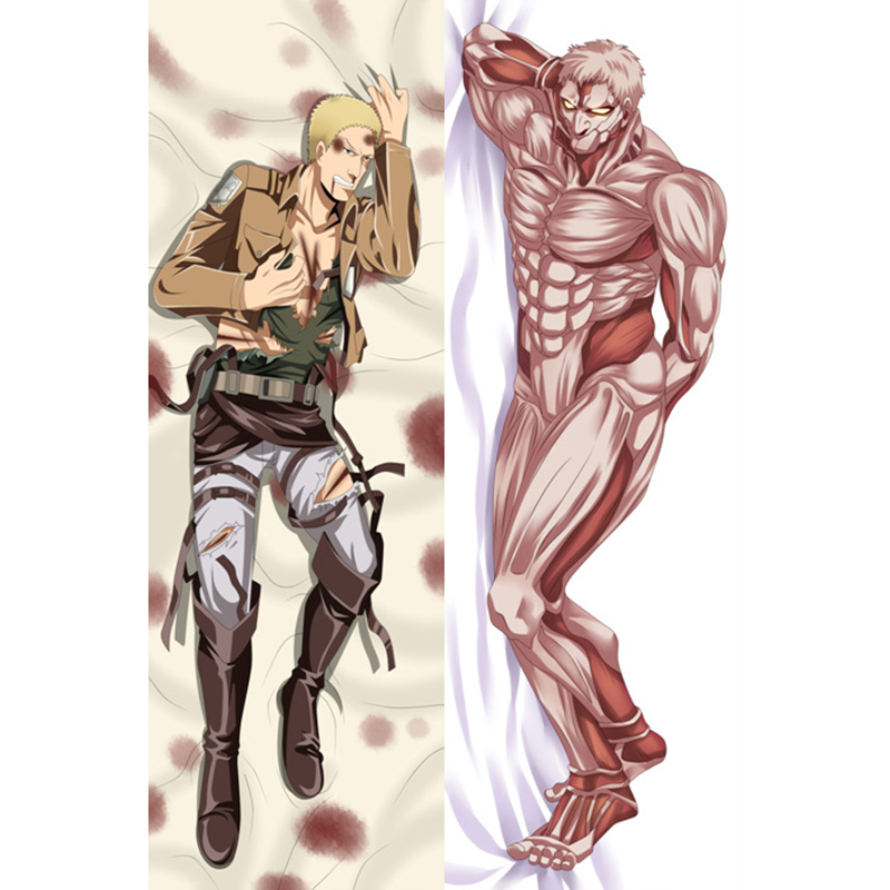 Decorative Body Pillow Anime : Attack on Titan Hot Japanese Anime Hugging Pillows Male Body Pillow Cover Case Pillowcases ...