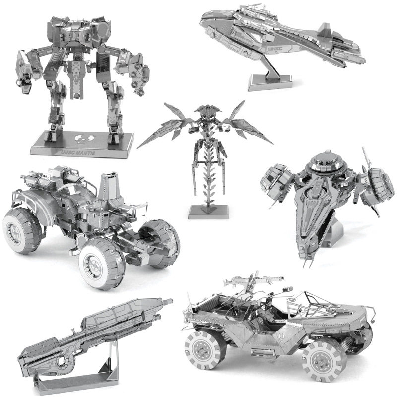 New 3D DIY Stereoscopic Metal Military Jigsaw Puzzle Toys Spaceship Robot Tank Weapon Model Puzzle Toys for Kid Adult Collection in Puzzles from Toys Hobbies