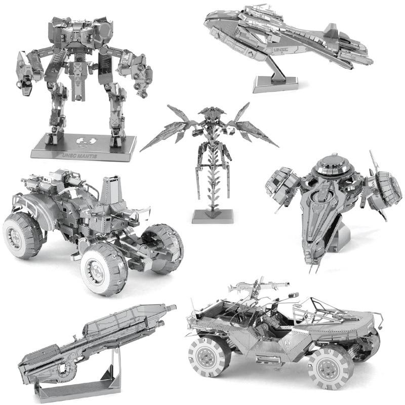 Nuevo 3D DIY estereoscópico Metal militar rompecabezas juguetes nave espacial Robot tanque arma modelo rompecabezas juguetes para chico colección de adultos 3D puzle bebé juguetes de madera juguetes educativos para primera infancia atrapa gusano juego de Color de fresa capacitativa capacidad de agarre divertido