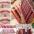 Hot Sale 12 Colors Waterproof Lipliner Crayon Make up Mineral Lip liner Eye Liner Pen Pencil #BW12 12pcs 12 pcs