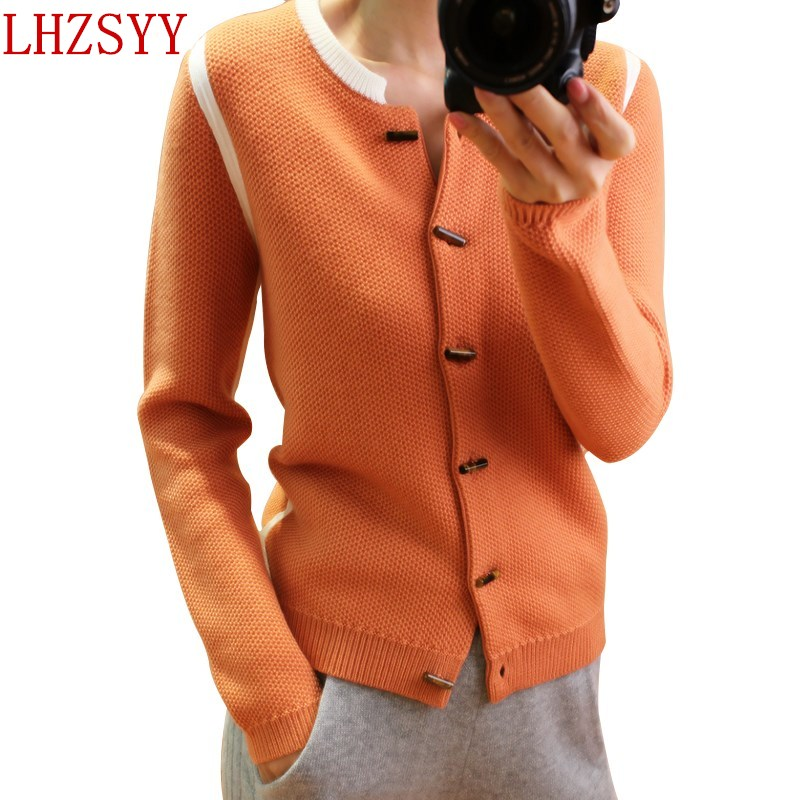 LHZSYY 2017 Hot Autumn and winter New O collar Cashmere Cardigan Women thick coat Short section