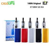 2pcs/lot 100% Original ECT 30P Mini e cigarette Kit 30W Box Mod Electronic Cigarette 2.5Ml Atomizer e-cigarettes Huge Fog Vape