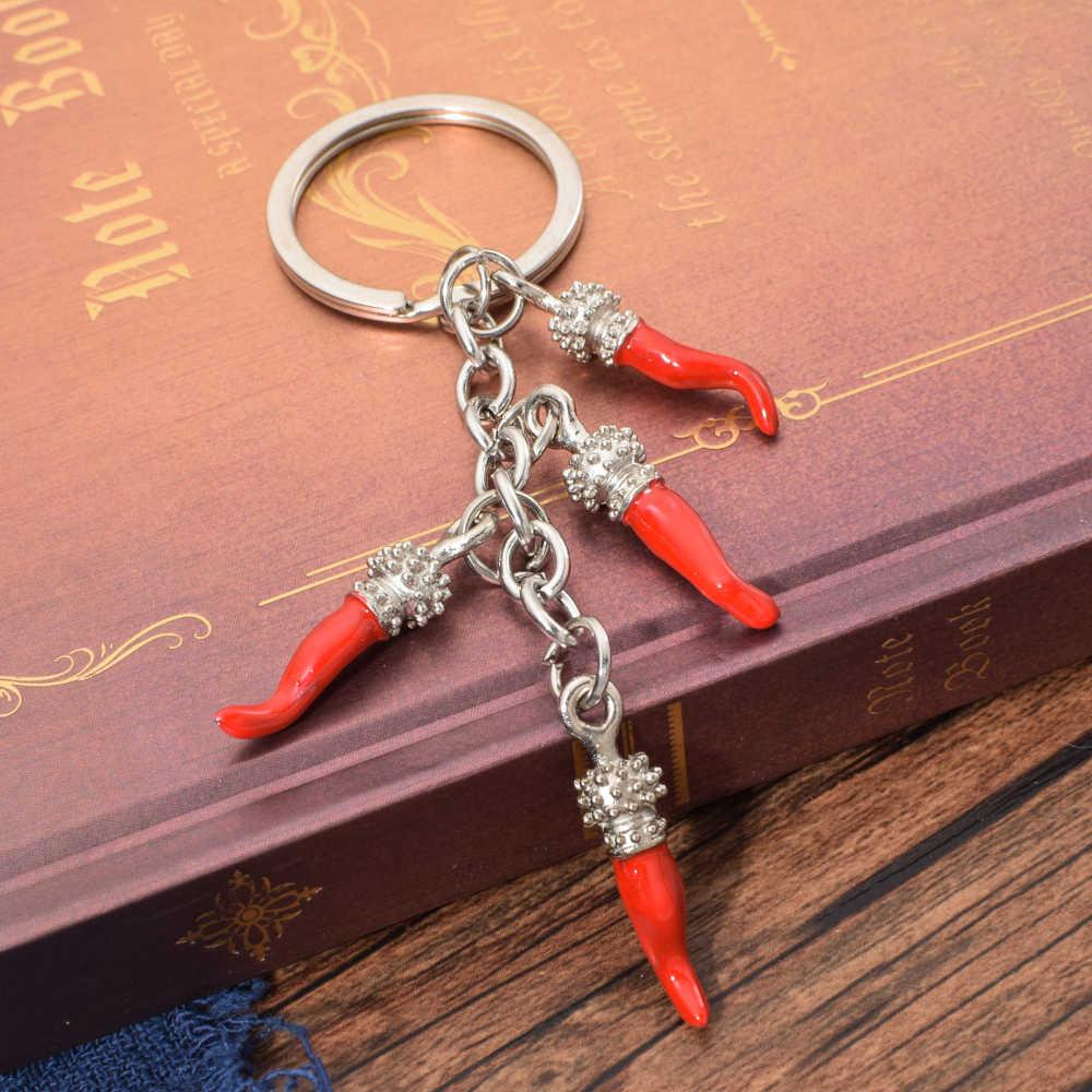 Vicney Moda Pimenta Vermelha Pimentão Mulheres da Jóia do Anel Chave Da Corrente Chave Pingente de Chave Charme Saco Keychain Bonito