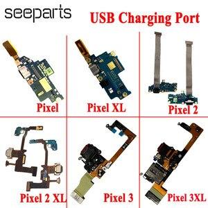 Image 1 - 100% testowane dla Google Pixel 2 Pixel 2XL stacja dokująca USB Port zamiennik kabla Flex Google Pixel 3 4 XL USB płytka ładująca