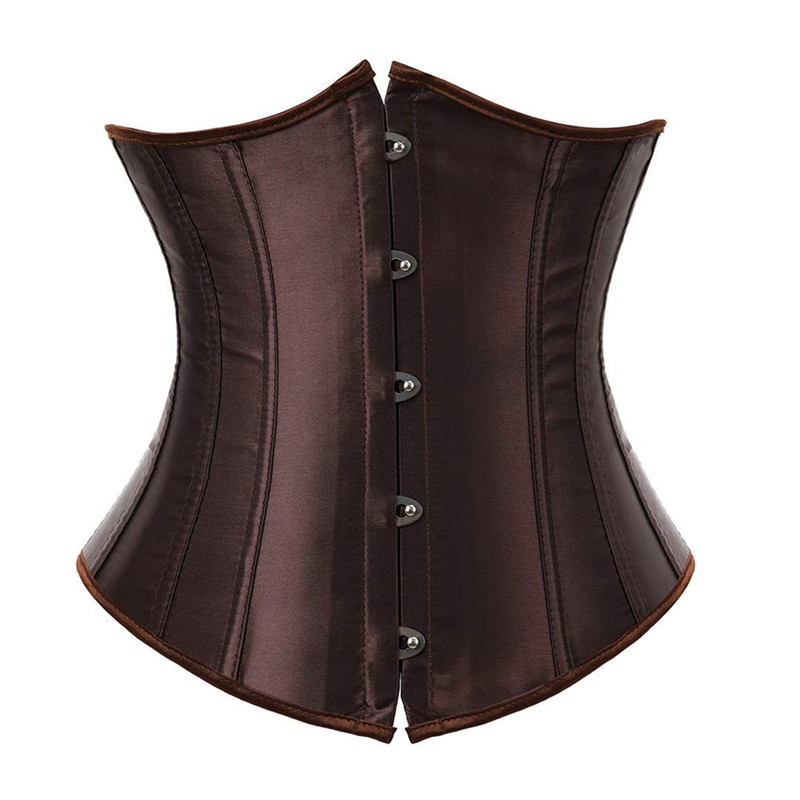 Corset Underbust Plus Size Sexy Bodyshaper Costumes Bustiers Corsets Cincher Ladies Burlesque Corselet Red Black Blue Pink Brown