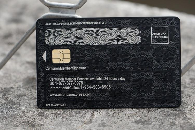 Freies Verschiffen American Express Centurion Card Durch Metall Es