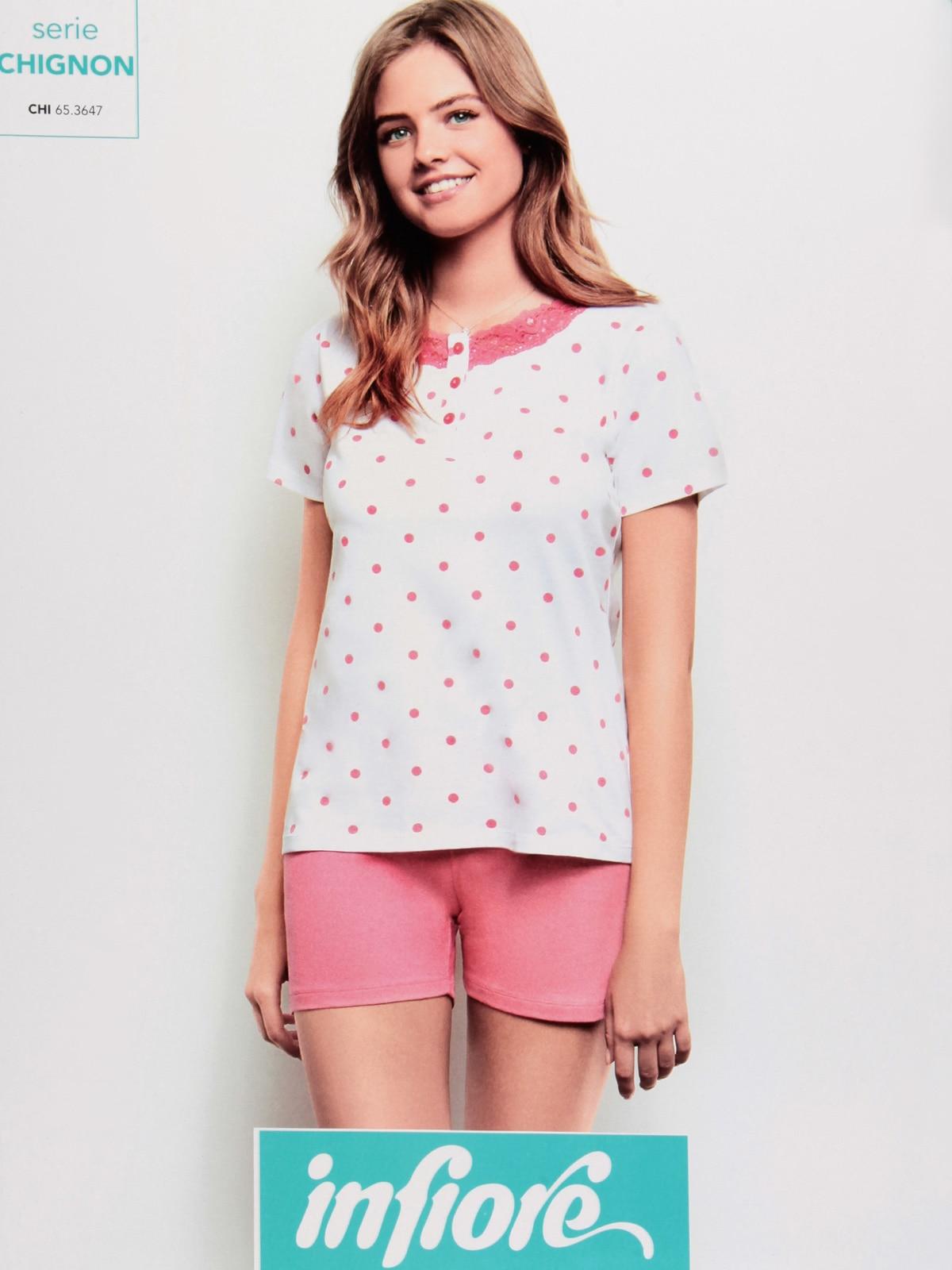 Summer Pajamas With Polka Dot T-shirt