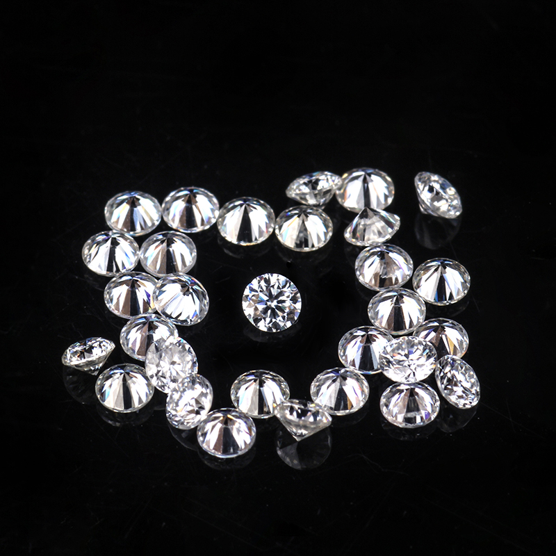 50pcs Small Size Test Positive 1.0mm EF White Color Round Shape Brilliant Cut Loose Moissanites Gemstones for Jewelry Making