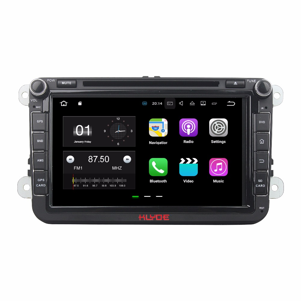 KLYDE 2 Din 8″ Android 7.1 Car Multimedia Player For SKODA Octavia II FABIA 2005-2010 Car Radio Stereo Car DVD Player Quad Core