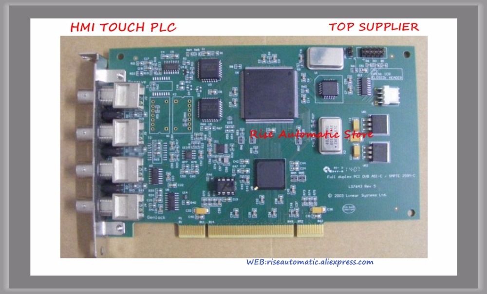 DVB-ASI Stream Output Card LS7643 Full Duplex PCI DVB ASI-C DVEO 4*Interface кукла asi хлоя 45 см asi