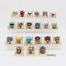 7 шт./компл., аниме Saint Seiya Egg Box, версия, золотой зодиак, ПВХ, фигурки, игрушки, куклы, аниме SS004