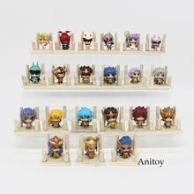 7 sztuk/zestaw Anime Saint Seiya pudełko na jaja Q wersja złota zodiaku pcv Action Figures zabawki lalki Anime SS004