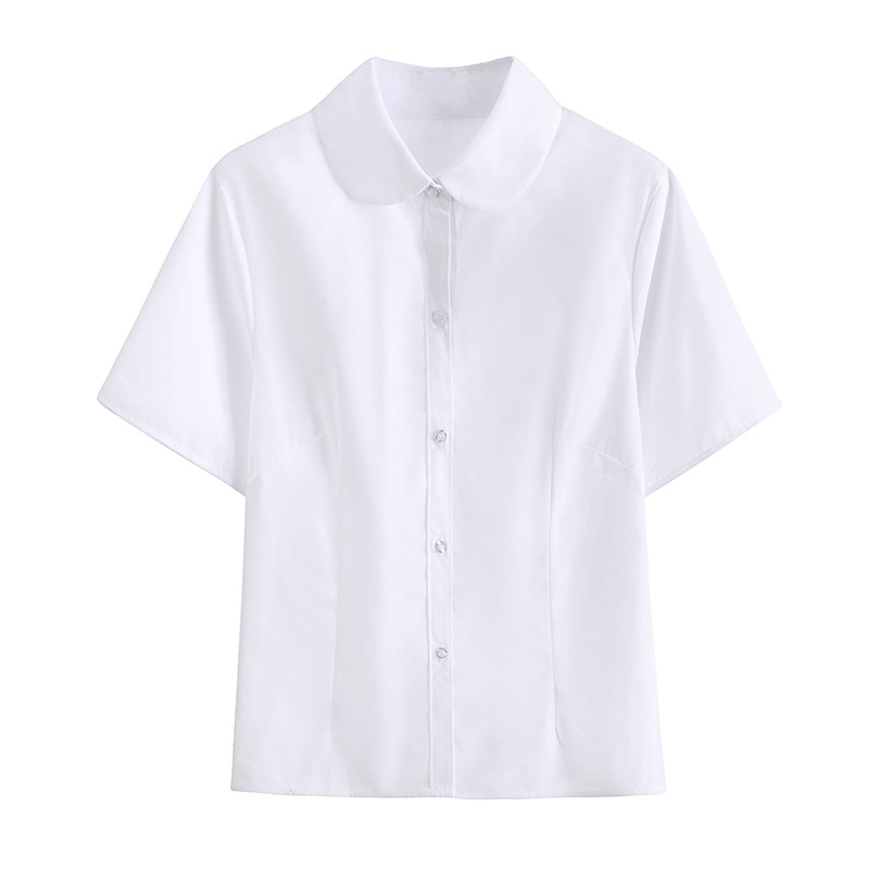 Women JK High School Uniforms Top Students Girls Harajuku Preppy Style Plus Size White Shirt Top Blouse Blusas