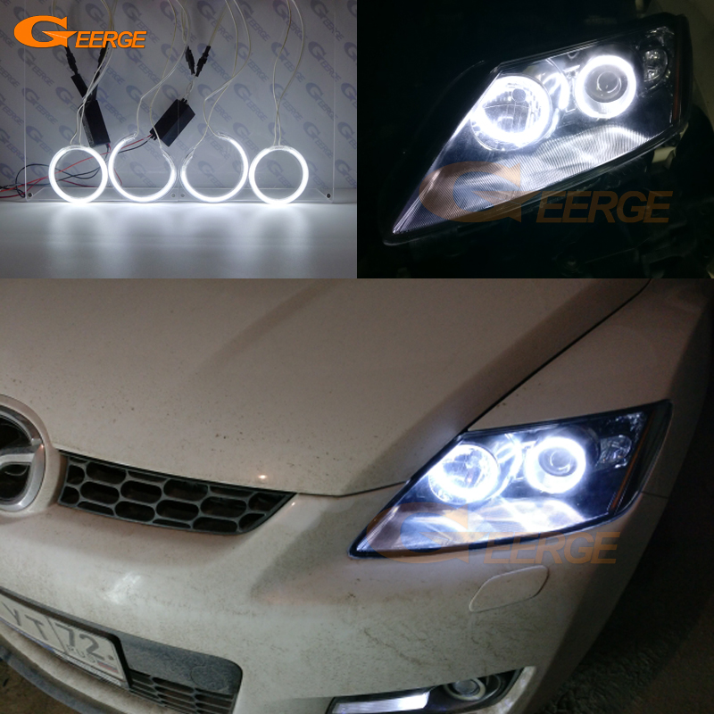 For Mazda Cx 7 CX-7 2006 2007 2008 2009 2010 2011 2012 Excellent Ultra Bright Illumination CCFL Angel Eyes Kit Halo Ring