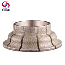 RIJILEI 140MM Electroplated Diamond Edge Profile Wheel for Stone Edge Profile Making Machine Marble Diamond Grinding Wheel DE08 цены онлайн