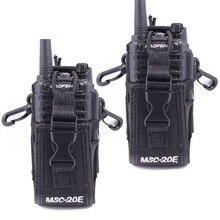 2個abbree MSC 20Eポータブルトランシーバーナイロンケースカバーハンズフリーbaofeng UV XR UV 9R tyt woxunモトローララジオ