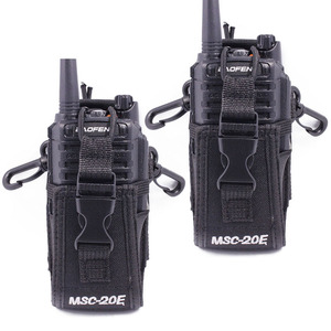 Image 1 - 2 pçs abbree MSC 20E portátil walkie talkie náilon caso capa handsfree titular para baofeng UV XR UV 9R tyt woxun motorola rádio