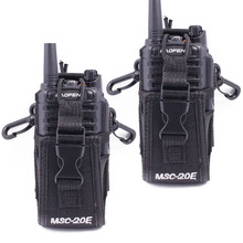 2 pièces Abbree MSC 20E Portable talkie walkie housse en Nylon support mains libres pour Baofeng UV XR UV 9R TYT Woxun Motorola Radio