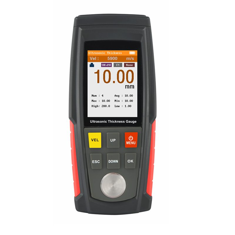 Portable Ultrasonic Thickness Gauge 1 00 225 0mm Digital Sheet Metal Plastic Glass Thickness Test Color
