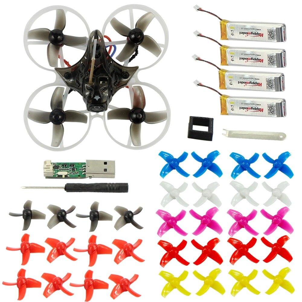 Happyymodel Mobula7 75mm Crazybee F3 Pro OSD 2 s Racing Drone Compatible Frsky Flysky non-L'UE version avec 10 paire Accessoires Supplémentaires
