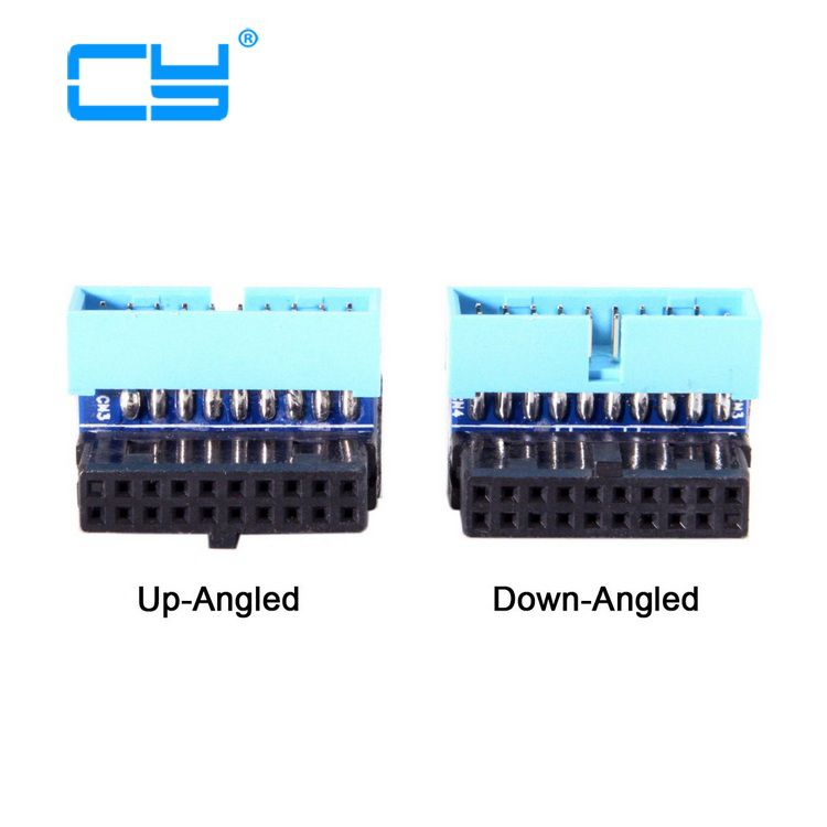 USB 3.0 20pin Male To Female Extension Adapter Up Down Angled 90 Degree For Asus Gigabyte Msi Onda Inte Lenovo USB3 Motherboard