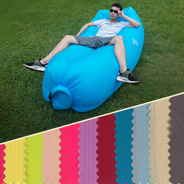 inflatable camping chair patio lounge outdoor air sofa laybag sleep bag hiking portable beach banana sleeping bags lazy