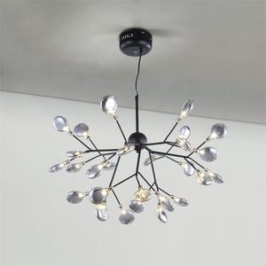 Image 4 - Lampe suspendue suspendue en forme de luciole, en noir et en or, design moderne, luminaire dintérieur, luminaire dintérieur, luminaire dintérieur, livraison directe