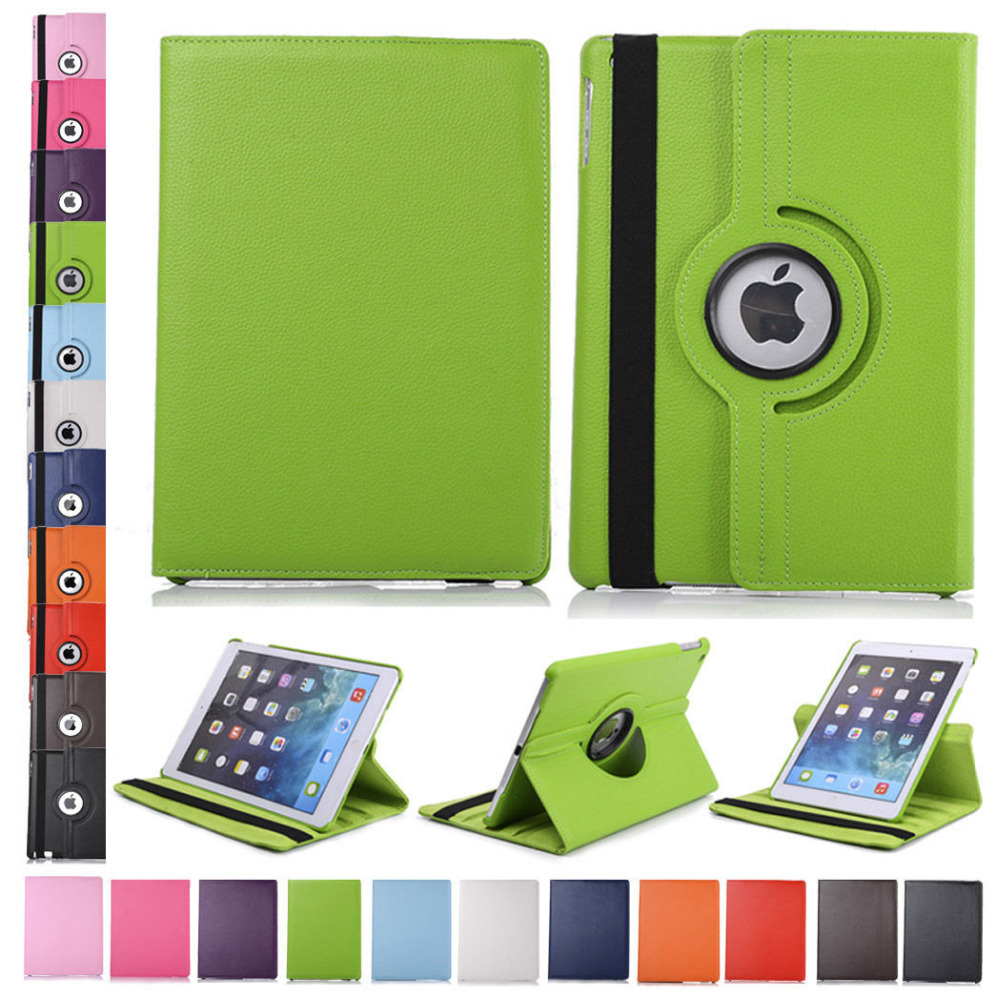360 Rotating Flip Stand Case Leather Cover For Apple iPad mini 1 mini 2 mini 3 Protector Skin tablet Cases KF218D