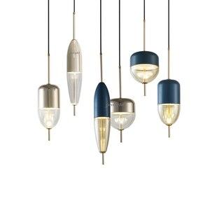 Image 1 - زجاج حديث بسيط الكرة نجفة مزودة بإضاءات ليد E27 آرت ديكو أوروبا مصباح معلق مع 8 أنماط لغرفة النوم مطعم المطبخ صالون