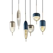 โมเดิร์นลูกบอลแก้วจี้ LED E27 Art Deco ยุโรปแขวนโคมไฟ 8 รูปแบบสำหรับห้องนอนห้องครัว parlor