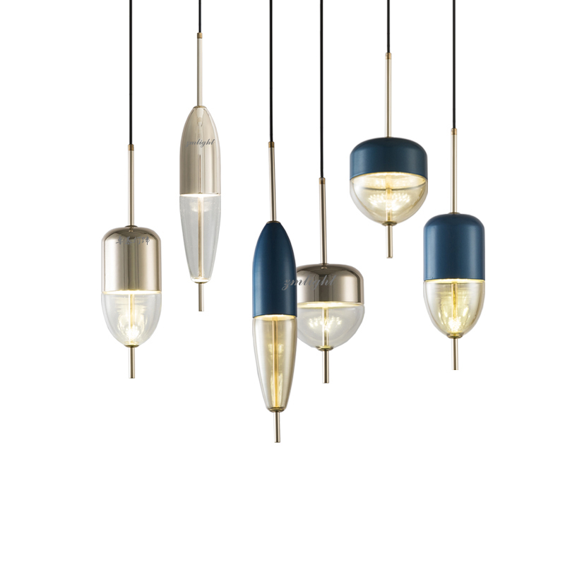 Simple modern glass ball pendant light LED E27 art deco Europe hanging lamp with 8 styles for bedroom restaurant kitchen parlor-in Pendant Lights from Lights & Lighting