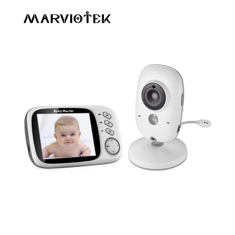 Bebé con cámara VB603 3,2 pulgadas LCD de visión nocturna 2 vías Talk 8 Lullabies temperatura Monitor niñera video radio niñera