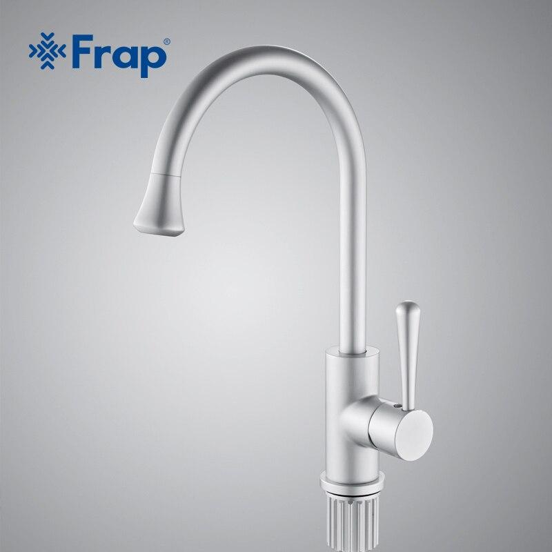 Frap classique cuisine mélangeur espace aluminium anodisation robinet de bassin pivotant 360 degrés rotation F4152 - 2