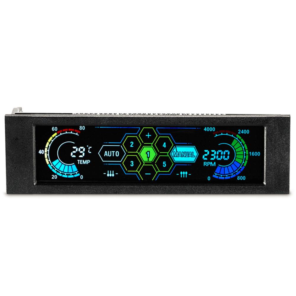 Prix pour En stock! 5.25 Pouce Professionnel Nouvel Écran LCD Affichage de La Température De Bureau Ventilateur Vitesse Contrôleur Avec Fonction D'alarme En Gros