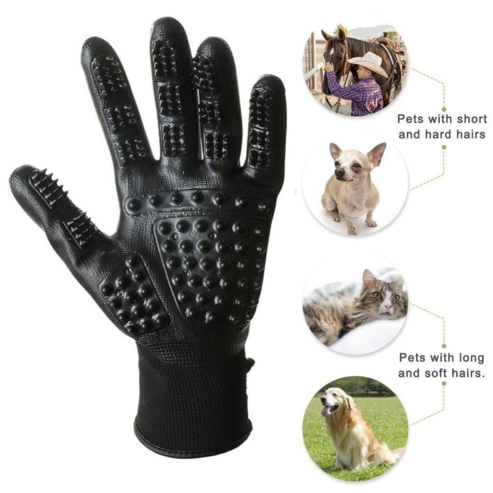 15 pair Pet Gloves Dog Cat Hair Cleaning Brush Grooming Comb Black Rubber Five Fingers Deshedding cat and dog pet cleaning massage gloves brush