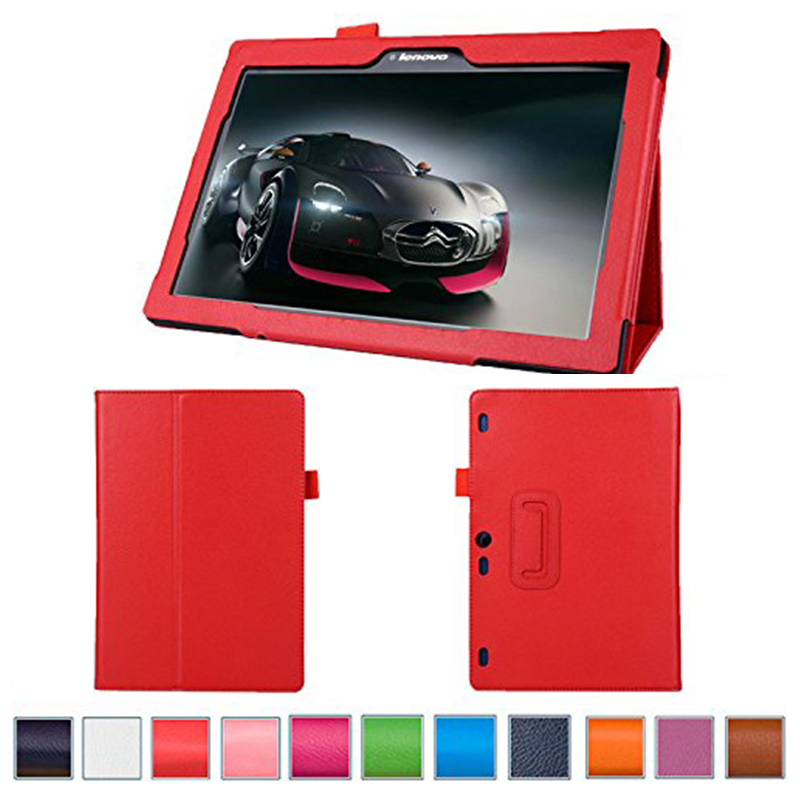 funda For lenovo tab 2 A10-30 case Foldable Stand Pu leather cover For Lenovo TAB2 A10-30F/L X30F X30L capa tablet cases case for lenovo tab 4 10 plus protective cover protector leather tab 3 10 business tab 2 a10 70 a10 30 s6000 tablet pu sleeve 10