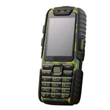Получить скидку A6 Power Bank телефон противоударный сильный фонарик 2.4 inch динамиком сильный фонарик Dual SIM старший открытый телефон